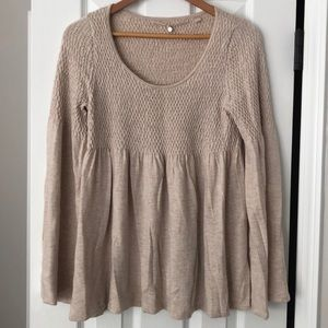 Anthropologie Babydoll Sweater